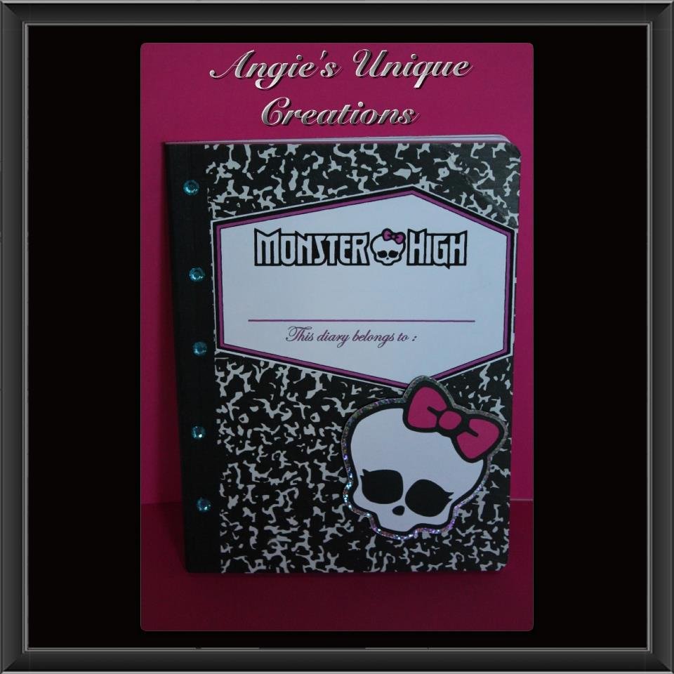 Scrappin Memories Monster High Diary And Cake Pop Holder