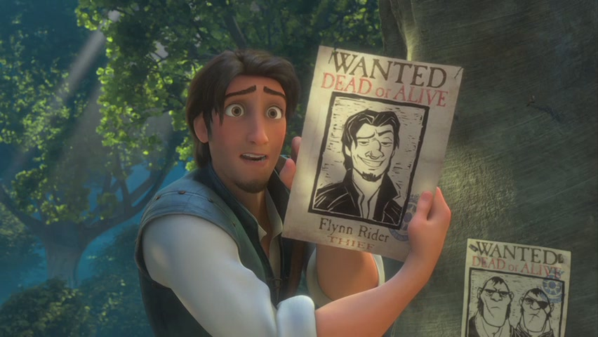 Flynn and wanted poster Tangled 2010 movieloversreviews.blogspot.com