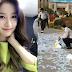 bikin heboh, wanita korea ini buang uang dijalan. jumlahnya mengejutkan