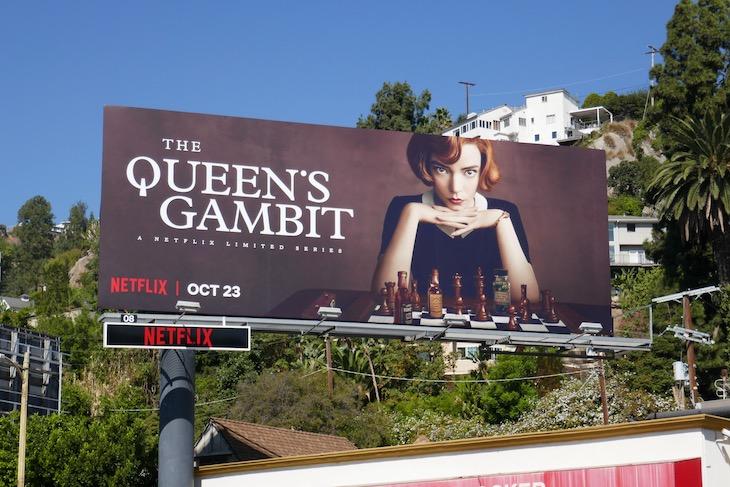 Queens Gambit Netflix billboard