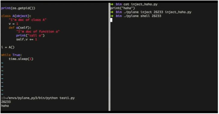 Pylane : An Python VM Injector With Debug Tools, Based On GDB