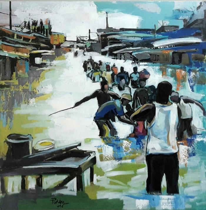 Камерунский художник. Rostand Pokam