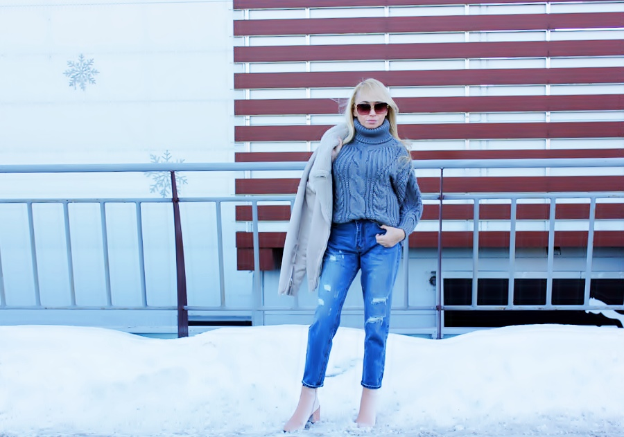 Dresslily Haul: Turtleneck Sweater. Теплый свитер крупной вязки / фото, отзывы