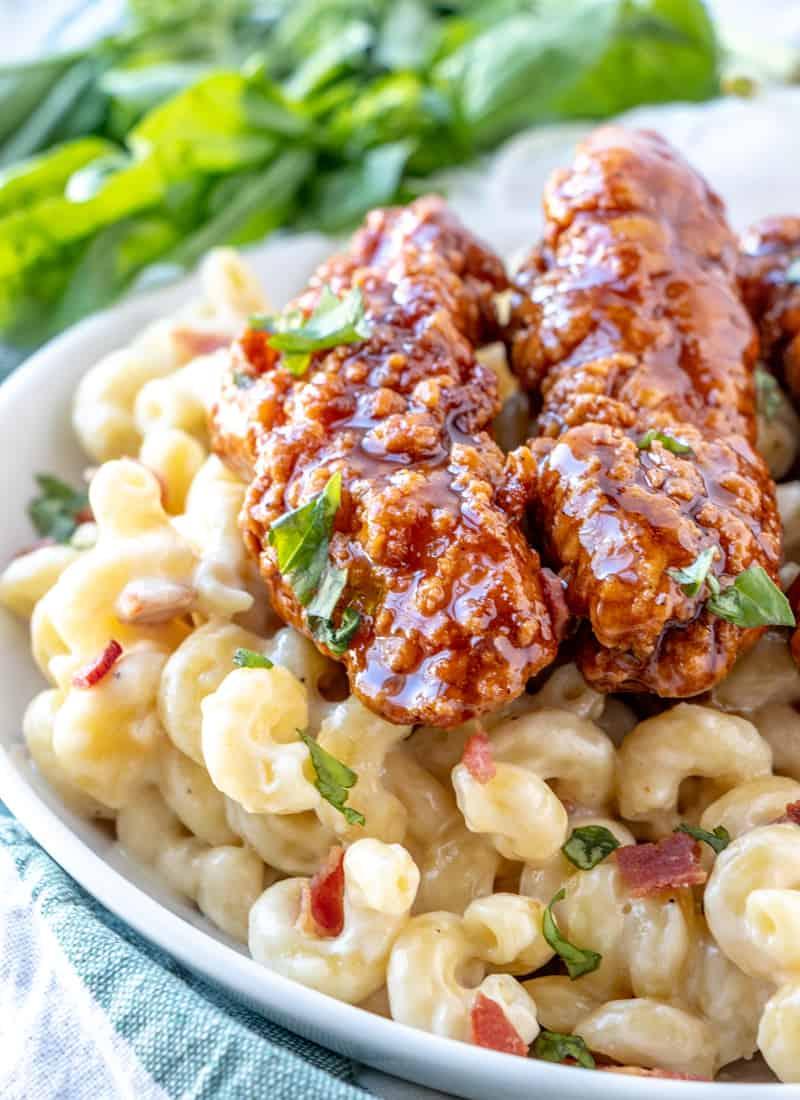 COPYCAT APPLEBEE'S HONEY PEPPER CHICKEN MAC AND CHEESE #dinner #healthyrecipe #easy #sandwich #vegan