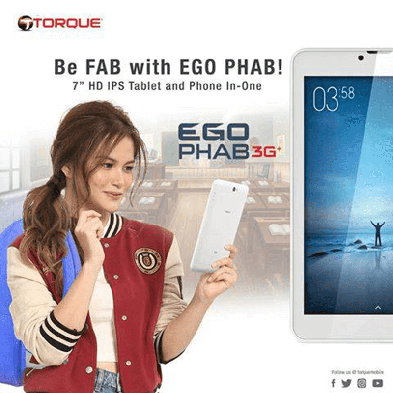 Torque Announces EGO Phab 3G+, A 7 Inch Tablet For PHP 3099