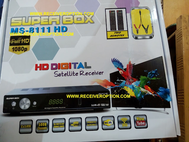 SUPER BOX MS-8111 HD RECEIVER BISS KEY OPTION