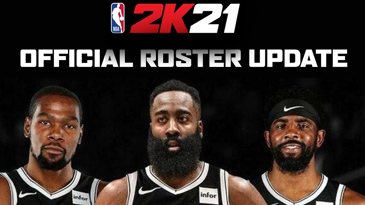 nba 2k21 official roster update harden trade 01 14