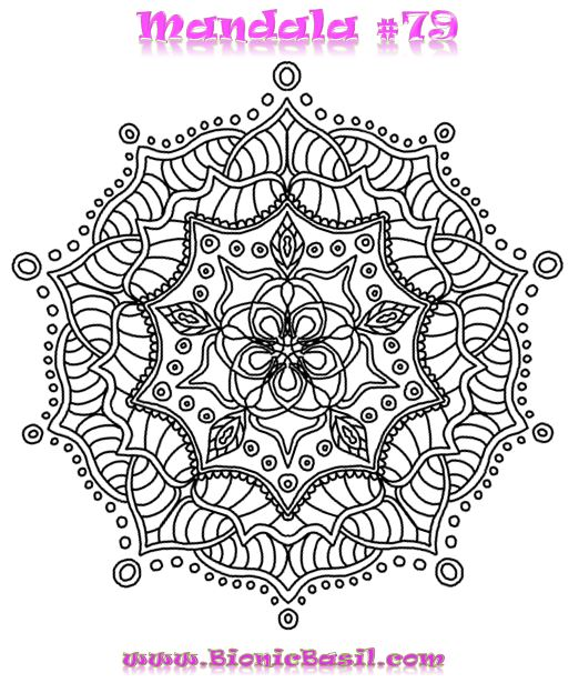 Mandalas on Monday #79 BionicBasil™  Colouring With Cats Downloadable Picture 17-2-19