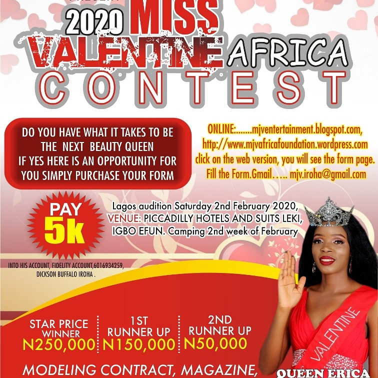 Mjv Miss Valentine Africa Welcome To Mjventertainment