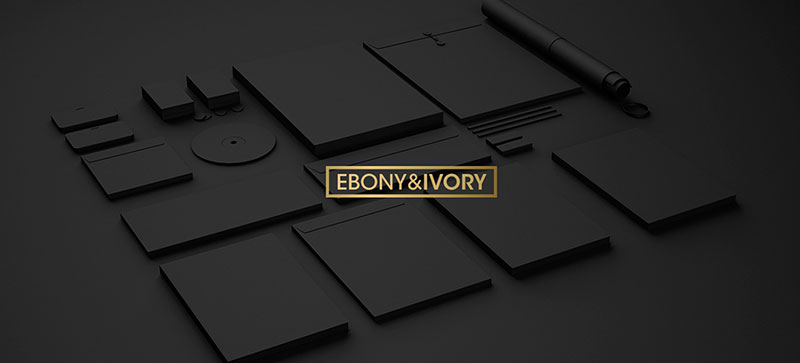 Ebony-Ivory Branding Mockup