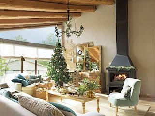 Деревенское Рождество в горном доме