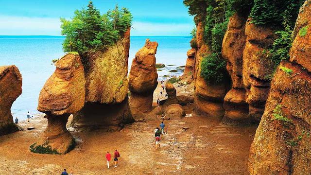 Baia de Fundy - Canadá - maior variação de maré do mundo