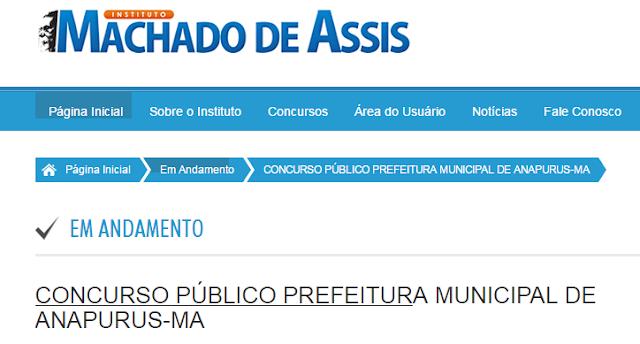 Confira os horários e os locais da aplicação da prova do Concurso Público de Anapurus