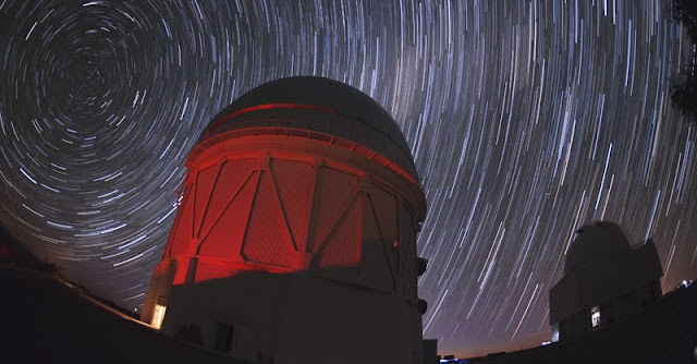Blanco telescope and star trails (Reidar Hahn, Fermilab)