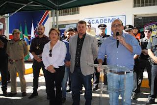 Prefeito inaugura Academia da Guarda Civil Municipal Paranaguá (PR)