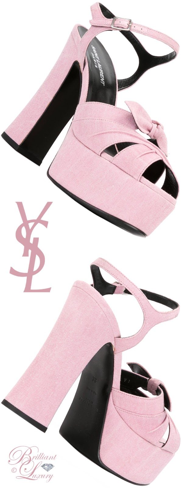 Brilliant Luxury ♦ Saint Laurent Candy 80 Bow Sandals