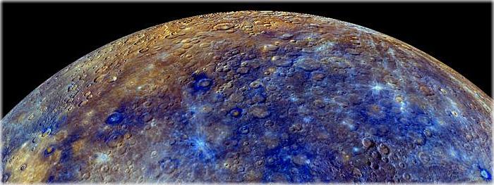 Mercúrio colorido - visão 360 graus incrível