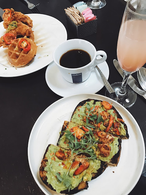 lobster avocado toast at Aqimero
