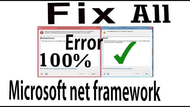 Microsoft-net-framework-blocking-issues