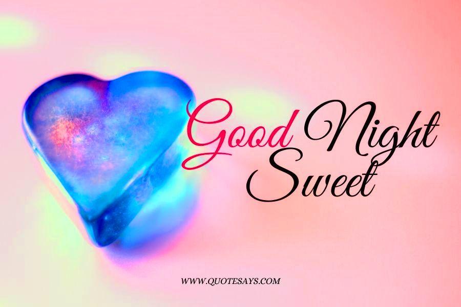 Good Night Blue Heart for Lover
