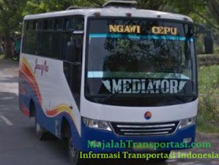 Rute dan Tarif Bus Gunung Mas jurusan Cepu, Ngawi, Bojonegoro