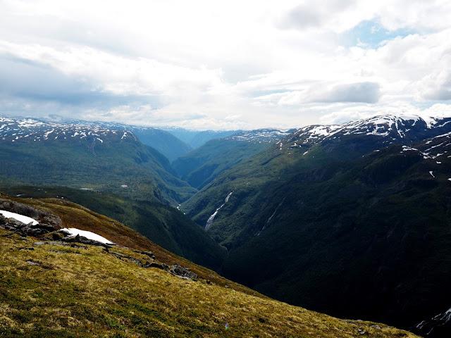 vrchol, údolí Utladalen, příroda, trek, turistika, Norsko, Jotunheimen