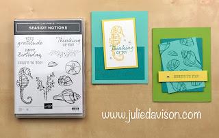 "16 Alternative ""Get & Go"" Project Ideas ~ Stampin' Up! Seaside Notions Cards ~  www.juliedavison.com #stampinup"