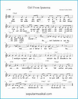 chord girl from ipanema lagu jazz standar