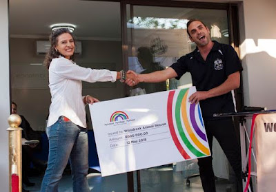 Cheque handover at Woodrock Animal Rescue