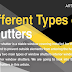 Different Types of Shutters #infographic