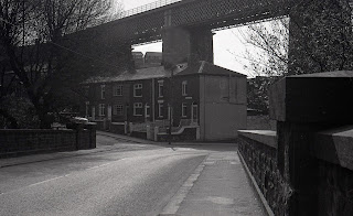 Woodside Place and viaduct at Darcy Lever