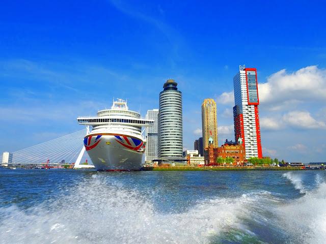 MV Azura Cruise Ship in Rotterdam Port