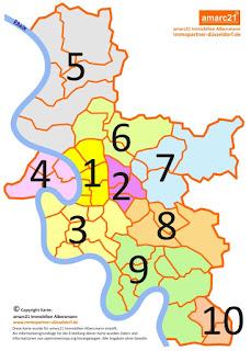 Düsseldorf Stadtteile Karte.Düsseldorf Und Umgebung In Bildern Düsseldorf Stadtbezirke