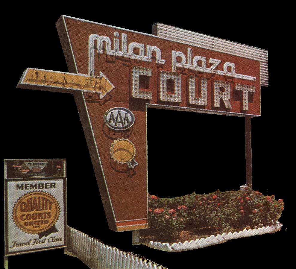 Phil Are Go!: Milan Plaza Court Motel