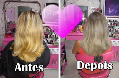 Correção da cor do cabelo loiro