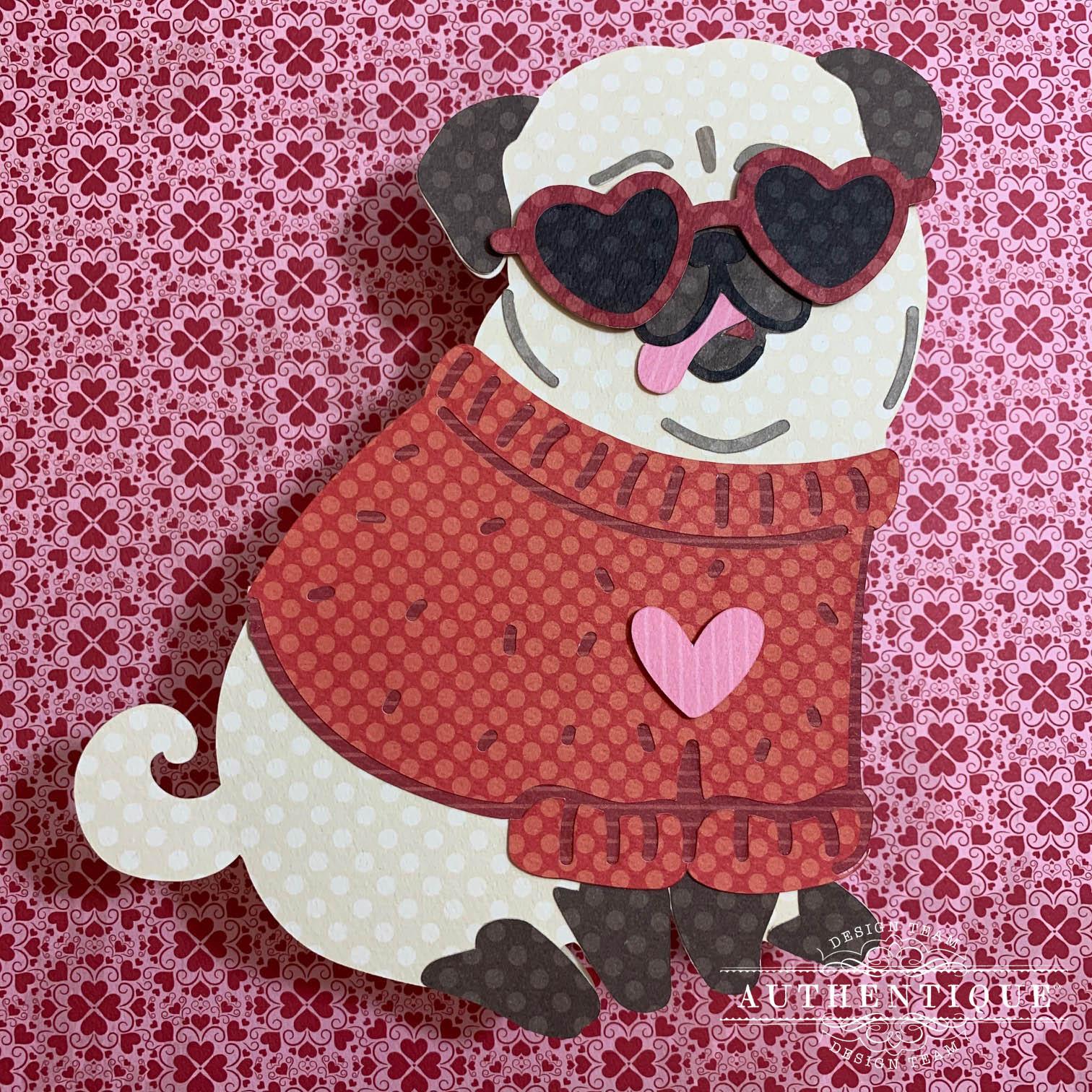"""French Bulldog"" handcrafted Heart door//dresser hanger decoupage dog"