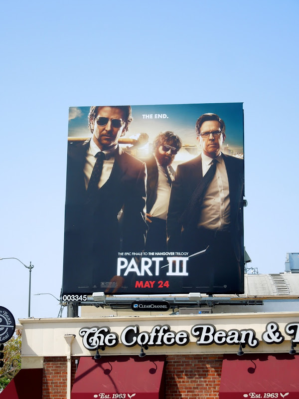 Hangover Part III movie billboard