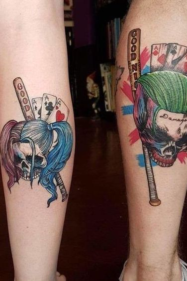 Famous Characters Couple Tattoos