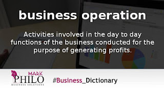 يعنى ايه Business Operation؟!