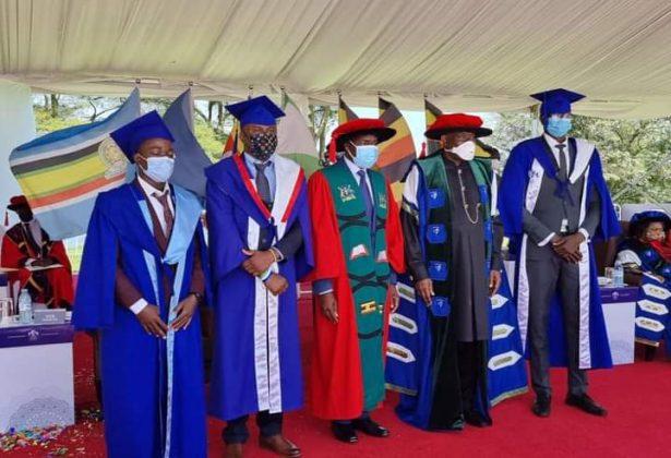 Dr. Goodluck Jonathan and other dignitaries at Cavendish University, Uganda