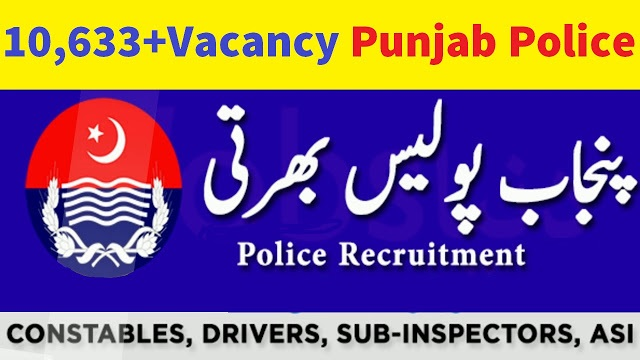 Upcoming 10,633+Vacancy in Punjab Police 2021