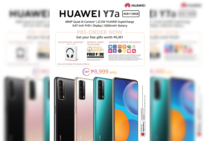 Huawei Y7a Philippines Price Preorder
