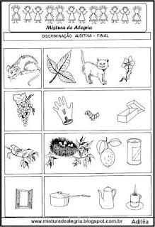 Desenhos sílabas finais iguais