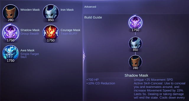 Shadow Mask Mobile Legends