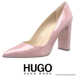 Queen Letizia wore Hugo Boss Pink Mayfair Pumps