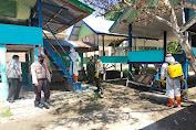 Bhakti Brimob Aceh Untuk Masyarakat Cegah Covid-19 Semprotkan Disinfektan