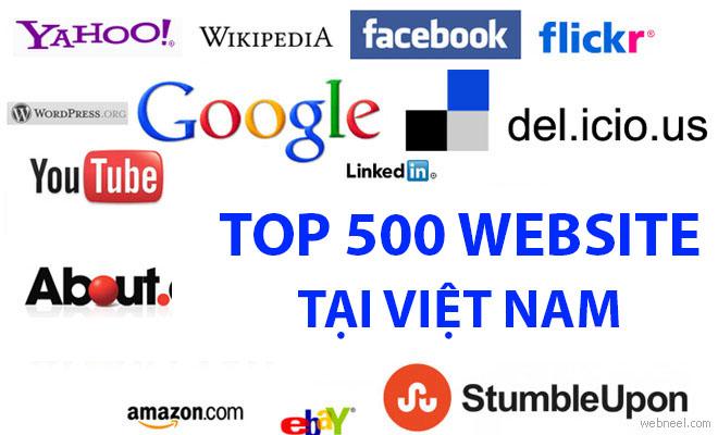 Top 500 website lớn nhất tại Việt Nam