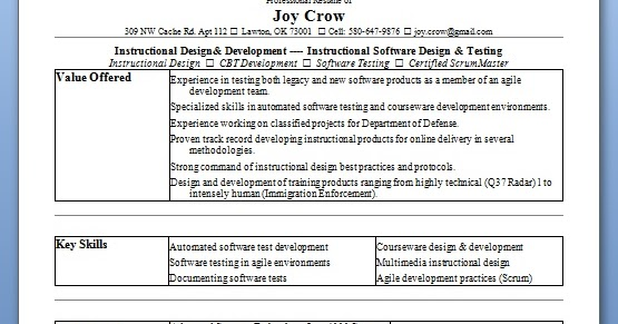 Resume Of Experienced Software Tester - Resume Examples