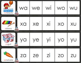 11 silabarios para niños de preescolar y primer ciclo de primaria gratis 8