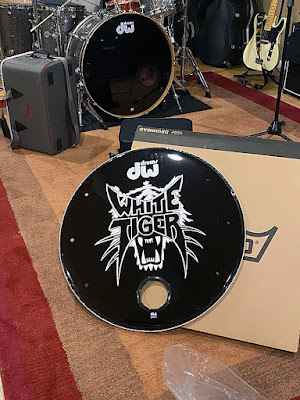 White Tiger bass drum front from the reunion shows